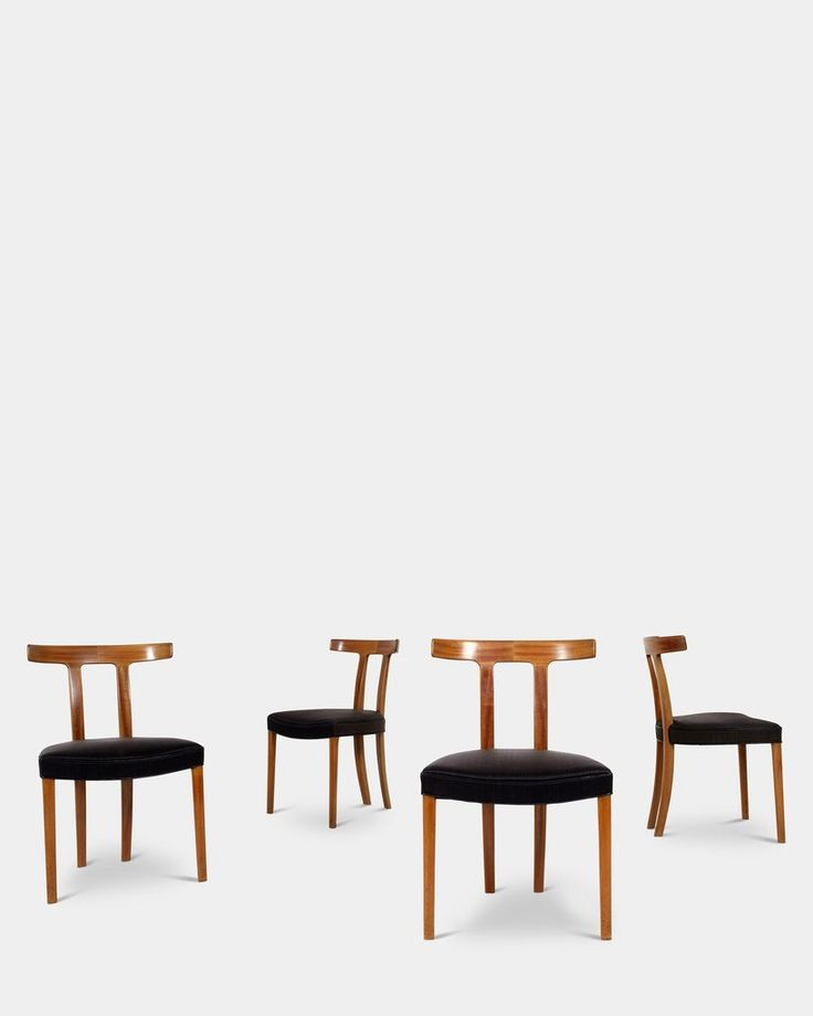 Set of four T-Chairs by Ole Wanscher