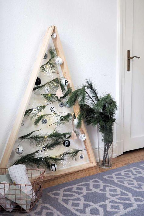 DIY Weihnachtsbaum Aus Holz. Weihnachten DekorationDeko ...
