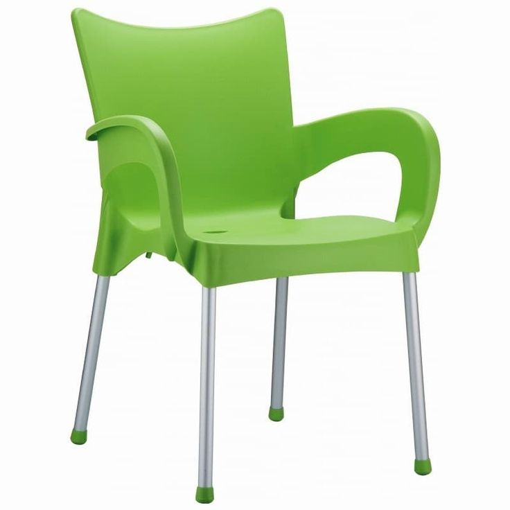 Romeo Stacking Dining Arm Chair [Set Of 4] Finish: Apple Green, Patio