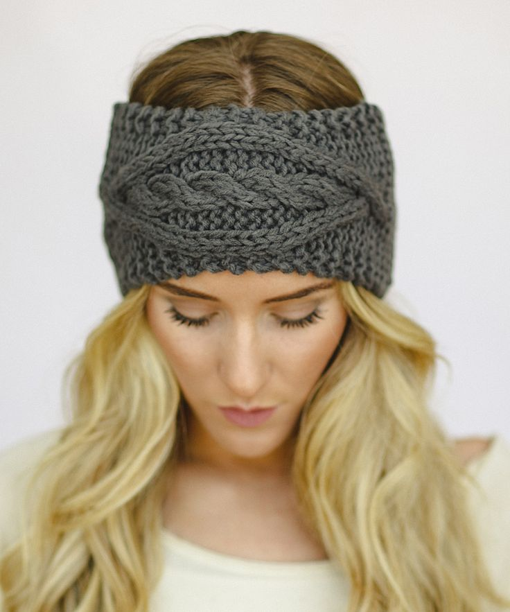 Gray Chunky Cable-Knit Headband …cozy!