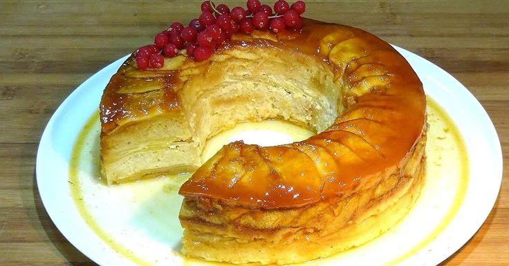 Tarantela o Pudín con manzana y crema