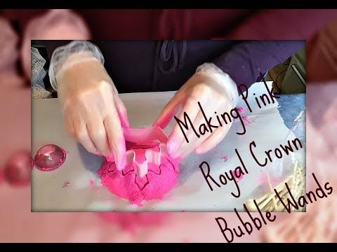 Making Pink Royal Crown Reusable Bubble Wands I Jentle Soaps
