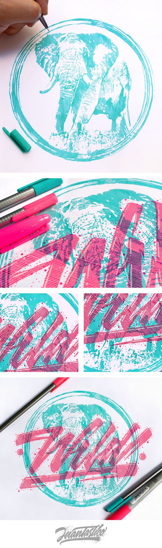 Typography Illustrations #eljuantastico