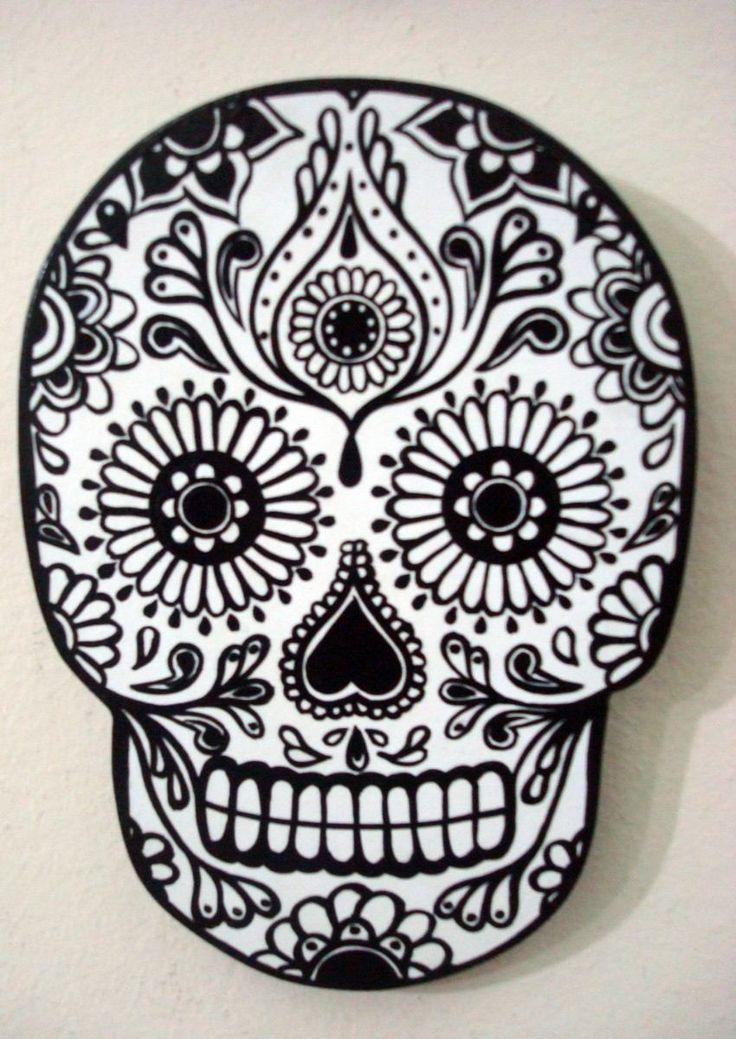 calaveras-mexicanas-en-madera-pintadas-a-mano-3618 ...