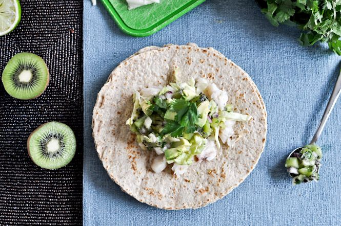 grilled coconut lime tilapia tacos with kiwi salsa -- this is one of our go-to recipes, especially when we want something lighter.