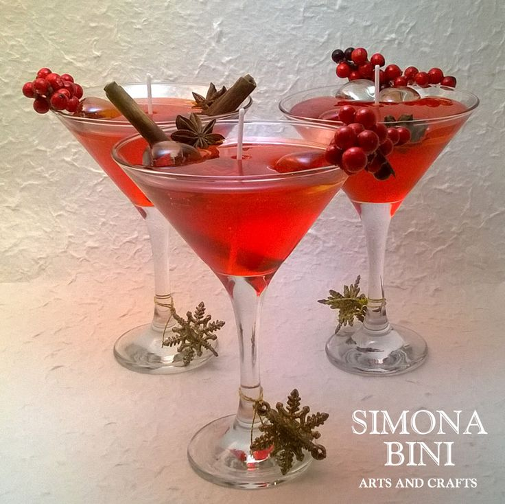 Candela cocktail con cera gel