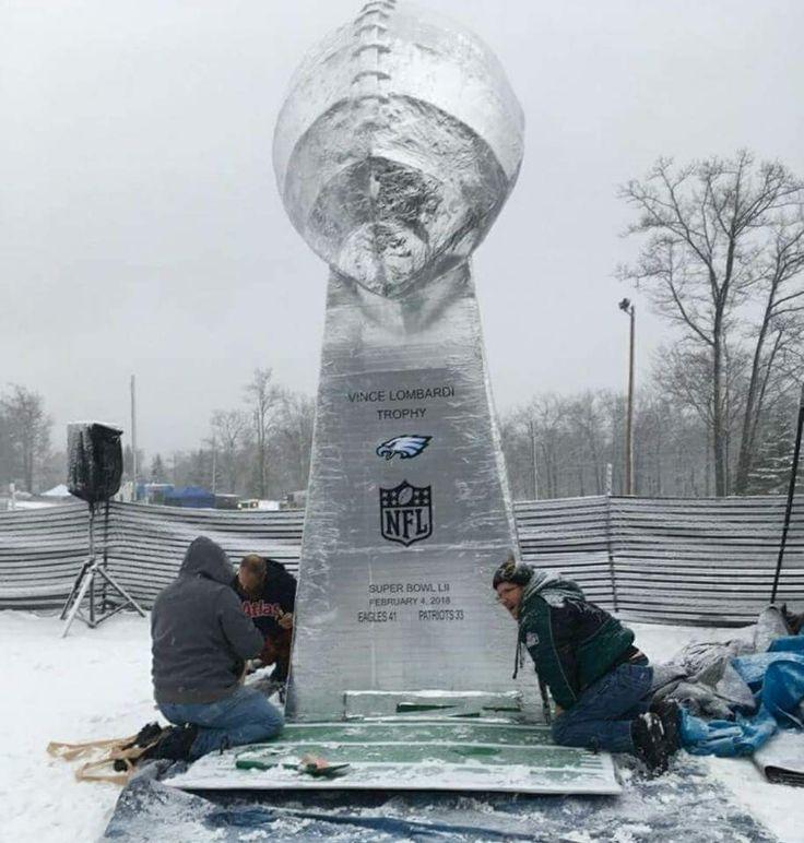 Philadelphia Eagles Superbowl Trophy made of Ice.