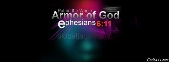 Pot on the whole Armor of God. Christian Facebook Cover  Ephesians 6:11