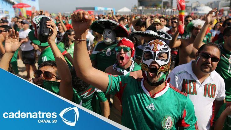 #VivaBrasil Así se vivió el partido México vs Holanda en el Fan Fest de Río de Janeiro