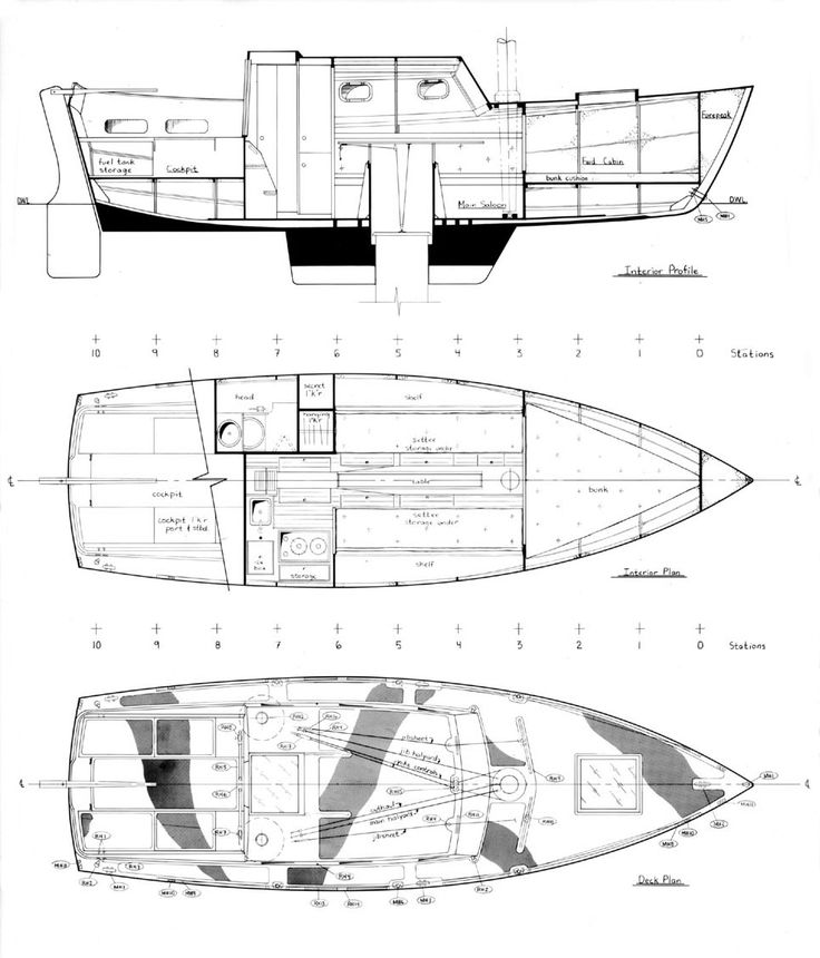 Wooden Boat Building Plan from 'My Boat Plans'