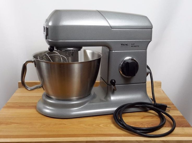 Viking Professional Stand Mixer Gray 7 Qt 1000W VSM700SG Complete with VSMFG 4 Part