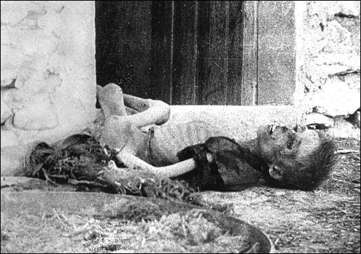 Un enfant arménien victime de la barbarie des turcs