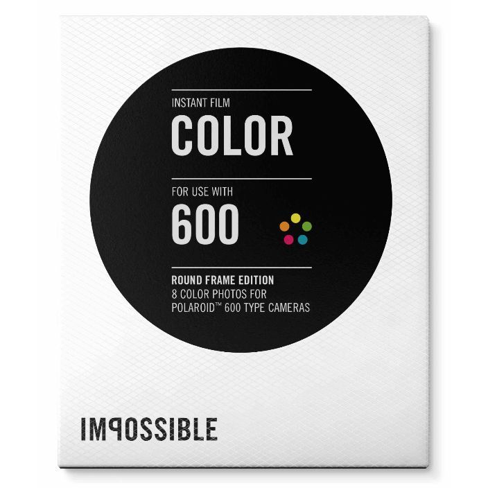 Impossible Color 600 Film Round Frame