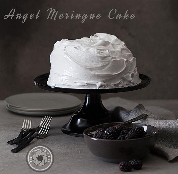 Angel food meringue cake.  Food Photography Shoot   Food Photography Blog