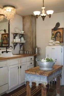 39 best Shabby chic kitchens images on Pinterest | Retro kitchens ...