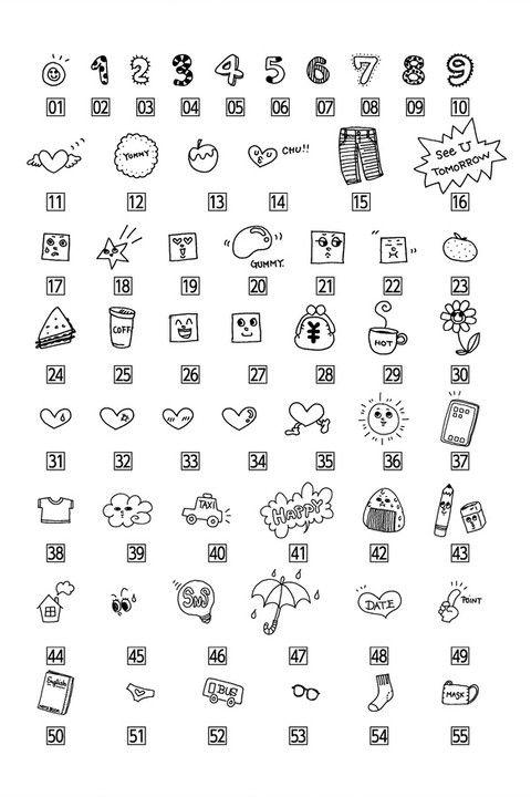 可愛いデコ文字の書き方とコツ 手書きプチイラスト集 Moropop