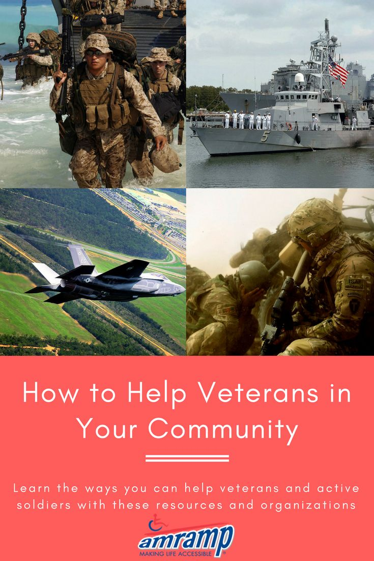 How to Help Veterans in Your Community - There are so many ways to give back to U.S. veterans and active duty soldiers! Amramp has put together a list of helpful links and resources to get you started