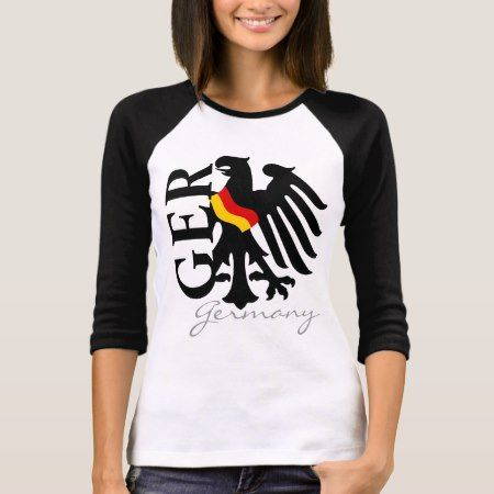 German Flag draped on the GER Eagle T-Shirt - click/tap to personalize and buy