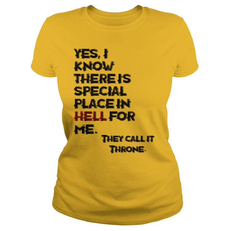 Yes I know, funny hell quote adult t-shirt, hail to the King!