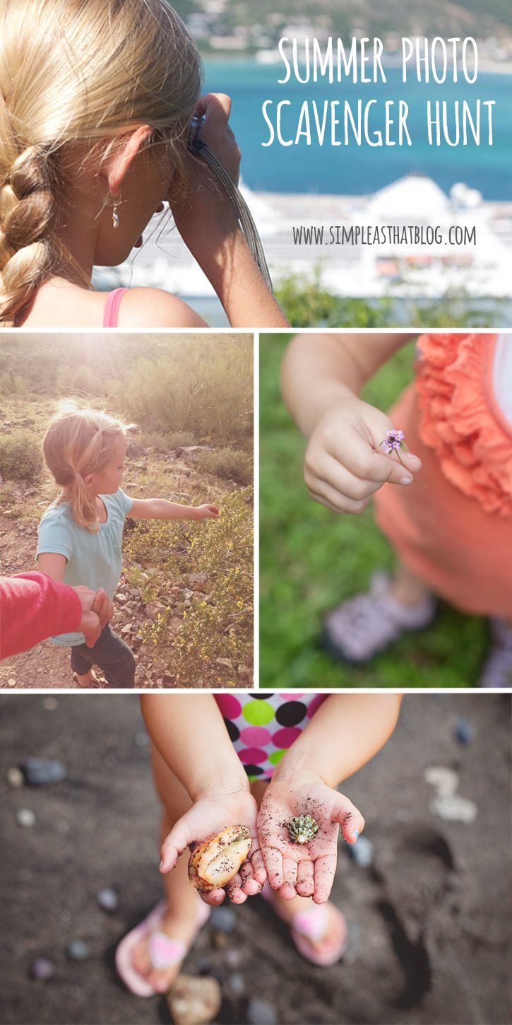 Summer Photo Scavenger Hunt for Kids Great ideas for getting kids behind the camera!