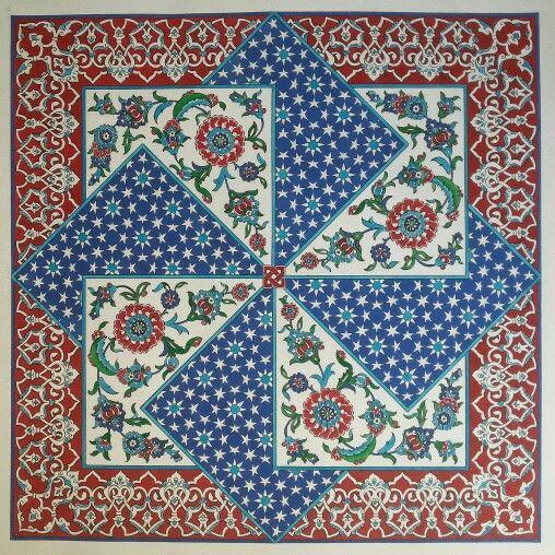 Ottoman tile design - made by Nesrin Yavuz - Istanbul Turkey