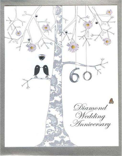 60th wedding anniversary card by Cinnamon Aitch.
