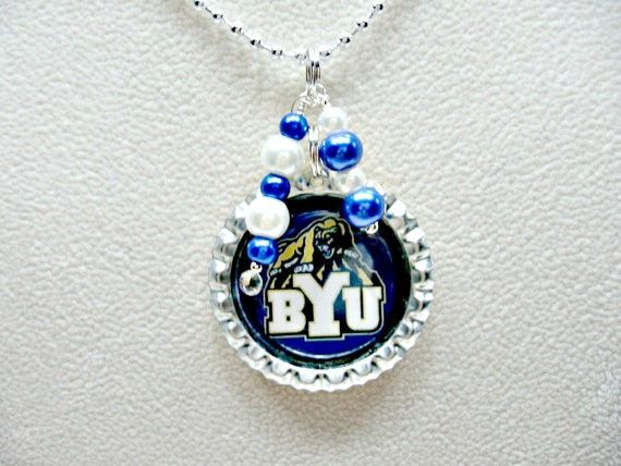 Brigham Young Jewelry BYU Necklace BYU Cougars Brigham
