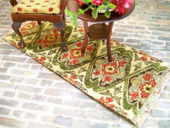 Green Peach Rug Carpet Persian Oriental 1:12 by dalesdreams