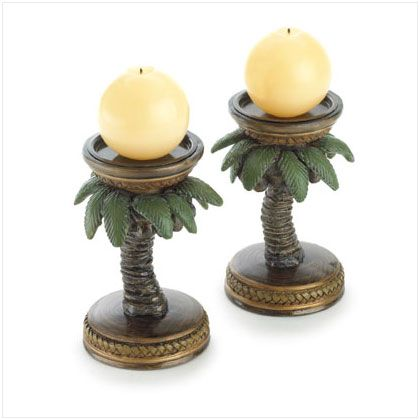 candle holders: Tropical Home, Trees Candlehold, Coconut Trees, Candle Holders, Candles Holders, Palms Trees, Palm Trees, Trees Candles,  Wax Lights