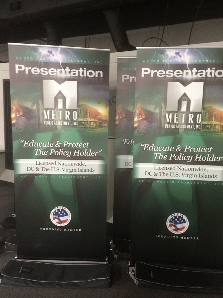 Retractable #banners we just did for Metro Public Adjusters.  www.speedproeastpa.com