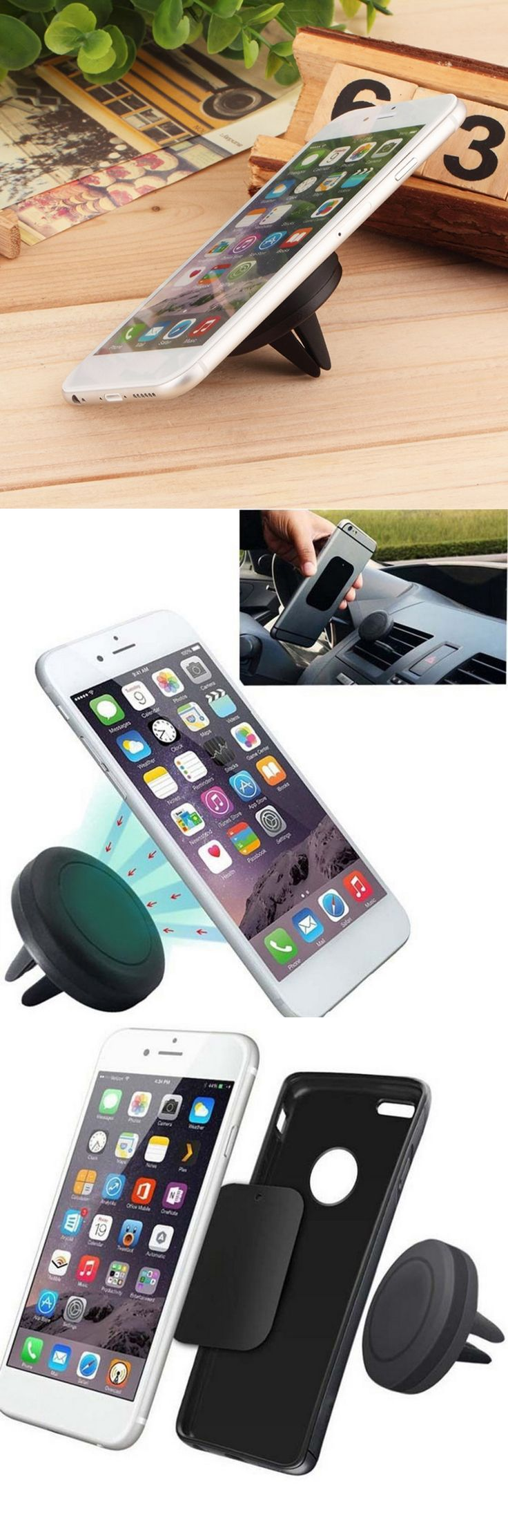 Universal Car Magnetic Air Vent Mount Clip Holder Dock For iPhone For Samsung Cell Phone Tablet GPS Professional hot sale