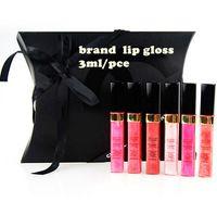 establecer la marca de cosméticos de maquillaje de 6 colores de moda labio limitado regalo lipgloss brillo de alta calidad Rose Coral Amor