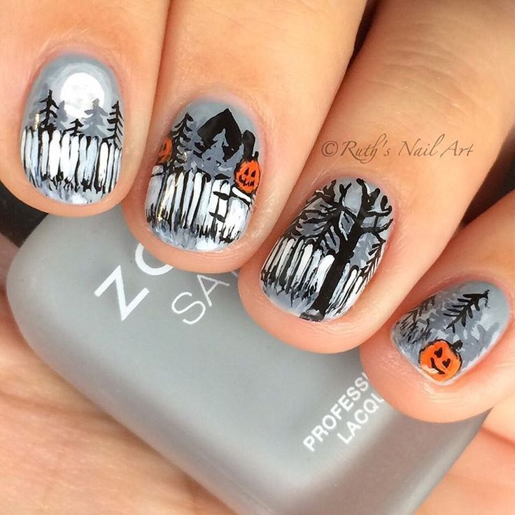 Halloween Nails 🎃 #ruthsnailart #nailart