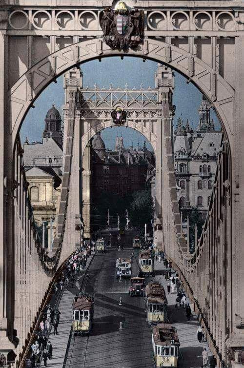 Erzsébet híd. Elizabeth bridge, Budapest, Hungar