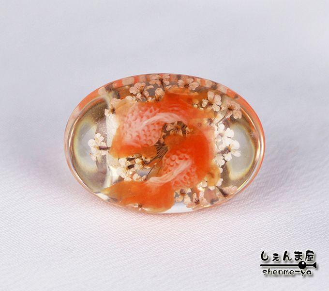 帯留め(obidome) 金魚 帯留め