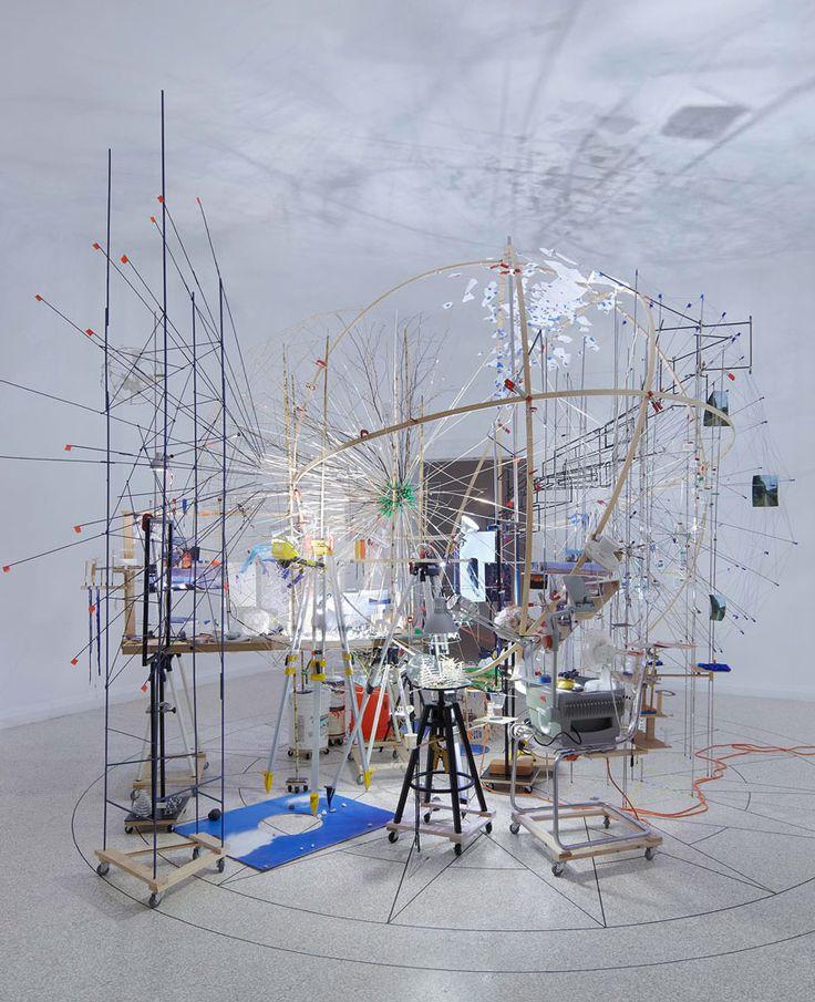 sarah sze: triple point (planetarium) - US pavilion at the 2013 venice art biennale   Work space, Art, Design