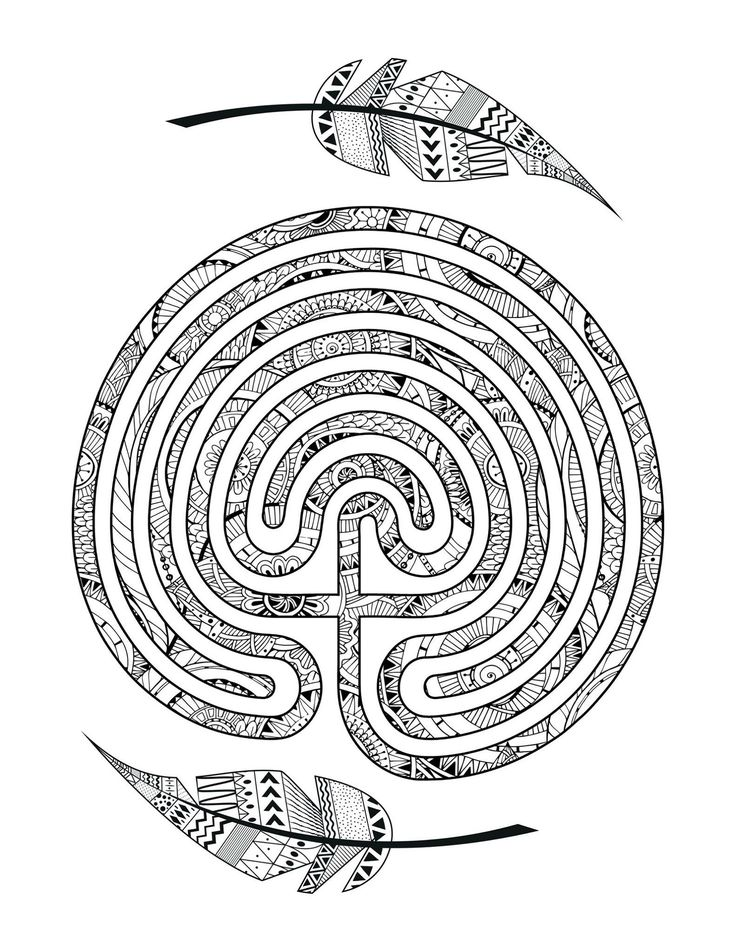 A Labyrinth Coloring Page From Nancy Aurand Humpf