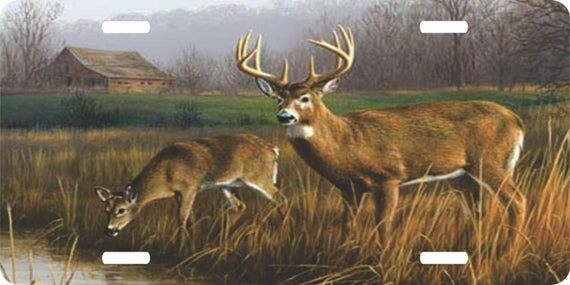 Deer hunting doe buck field cabin river creek novelty