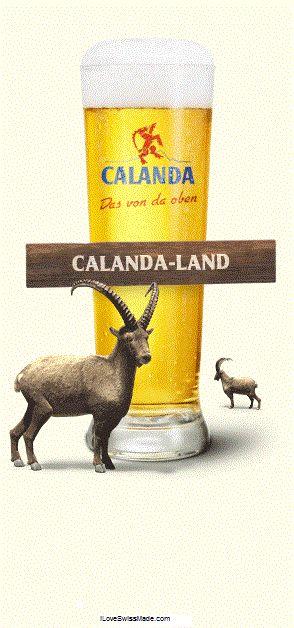 Calanda Bier, from Chur, Canton of Graubünden