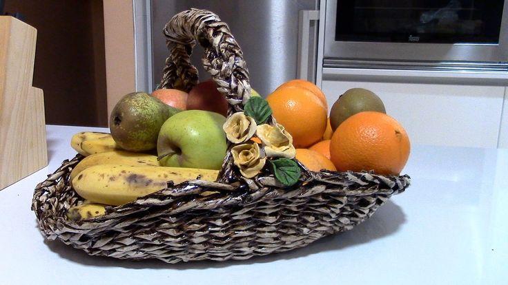 FRUTERA TEJIDA - WEAVED FRUIT DISH