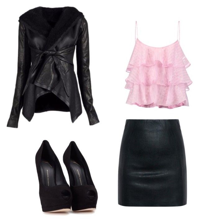 """""""Bad pink lady"""" by ophelierose on Polyvore featuring mode, Rick Owens, Pierre Balmain, McQ by Alexander McQueen et Giuseppe Zanotti"""