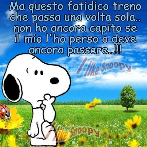 """Generalmente perchè si è perso ma non significa che non possa ripassare,caro Snoopy """"Cogli l'attimo"""" ......................................Generally because it is lost but does not mean that it can not go over, dear Snoopy """"Seize the day"""""""