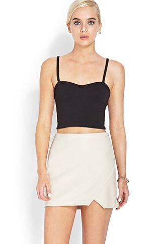 Pretty Tough Asymmetrical Skirt   FOREVER21 - 2000088777