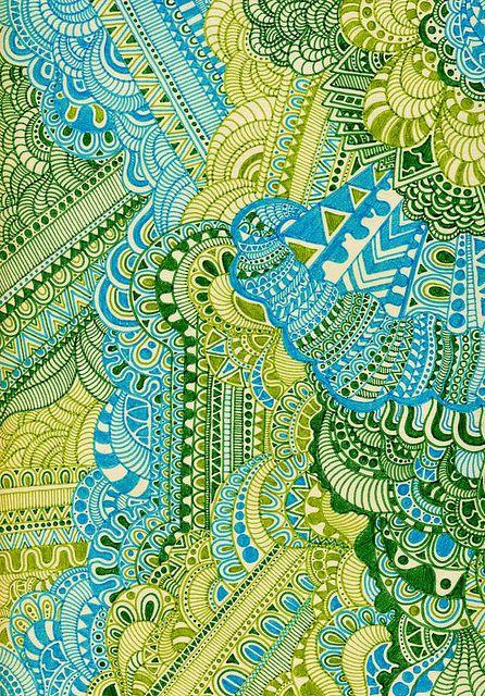 Coloured Zentangles!