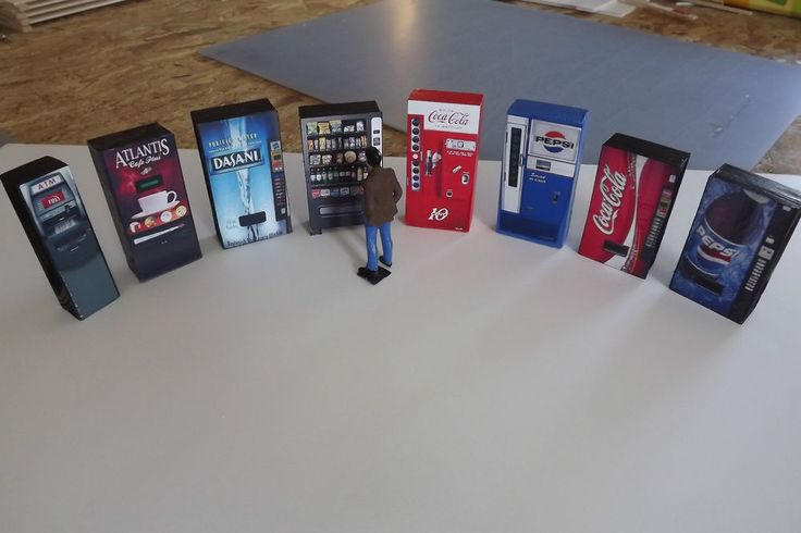 1/24 & 1/25  All 8 vending machines one price for your dioramas  #HomeMade