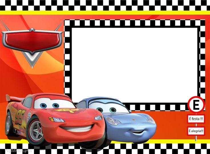 """Kit Aniversário Personalizados Tema """"Carros da Disney"""" para Imprimir - Convites Digitais Simples"""
