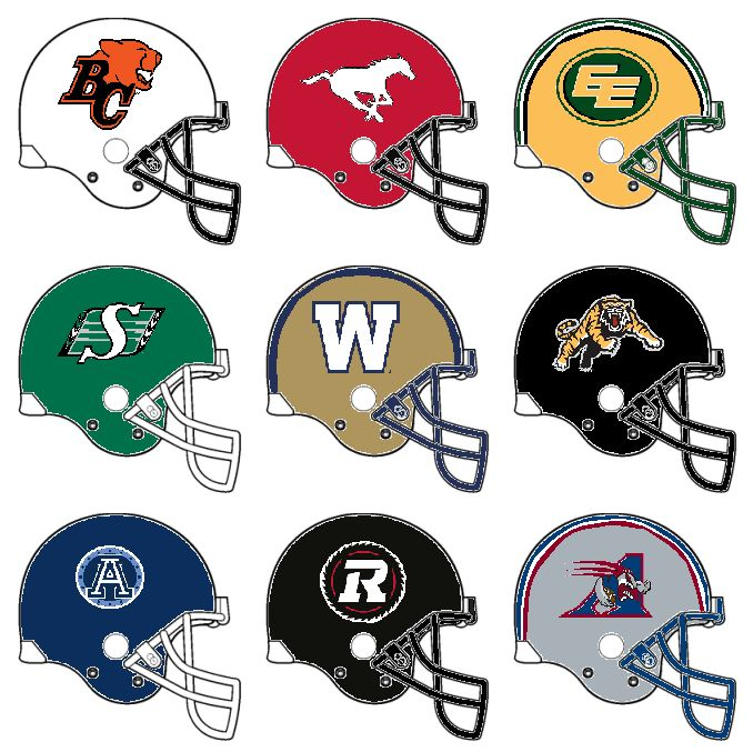 And, 35 years later, here are the CFL (Canadian Football League) helmets for this upcoming season, the 2015 season! Who do you think will take home Earl Grey's Cup for this season? NOTE: While a fe...