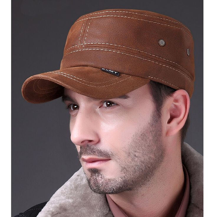 HL019 genuine leather baseball cap/hat men's brand new Russian winter warm army military caps/hats with ears #clothing,#shoes,#jewelry,#women,#men,#hats,#watches,#belts,#fashion,#style
