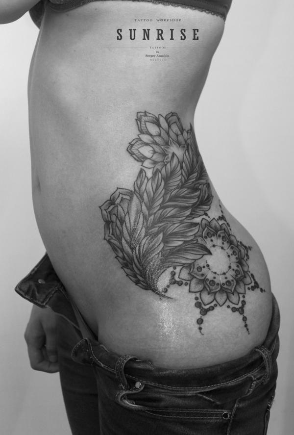 Орнамент из листьев | Татуировки, эскизы и тату-мастера России, Украины, Беларуси и из всего бывшего СССР