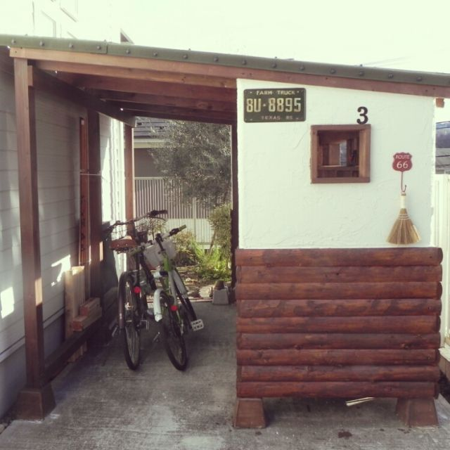 poyocoさんの、自転車置き場,自転車,自転車小屋,小屋,小屋DIY ,手作り,ガーデニング,ハンドメイド,ガレージ,DIY,雑貨,部屋全体,のお部屋写真